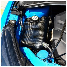 Cal Pony Cars Carbon Fiber Coolant Tank Cover for the Ford Focus RS / ST