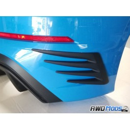 Cal Pony Cars Rear Canards for the Ford Focus RS