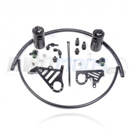 Radium Engineering Dual Oil Catch Can Kit for the Ford Focus RS / ST