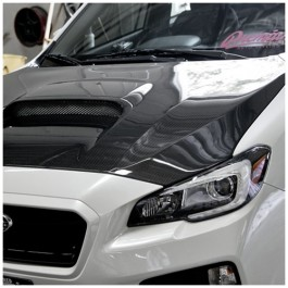Seibon OEM Style Carbon Fiber Hood for the Subaru WRX STI
