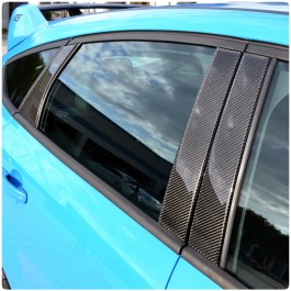 Tufskinz Peel & Stick Carbon Fiber B & C Pillar Accent Kit for the Ford Focus RS / ST (Set of 6)