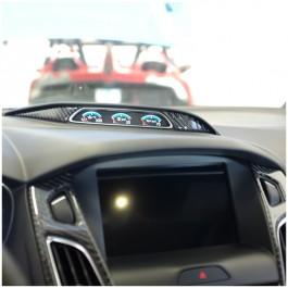 Tufskinz Peel & Stick Carbon Fiber Gauge Cluster Accent Kit for the Ford Focus RS / ST (2 Piece Kit)