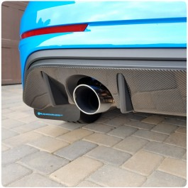 Tufskinz Peel & Stick Carbon Fiber Rear Diffuser Kit for the Ford Focus RS