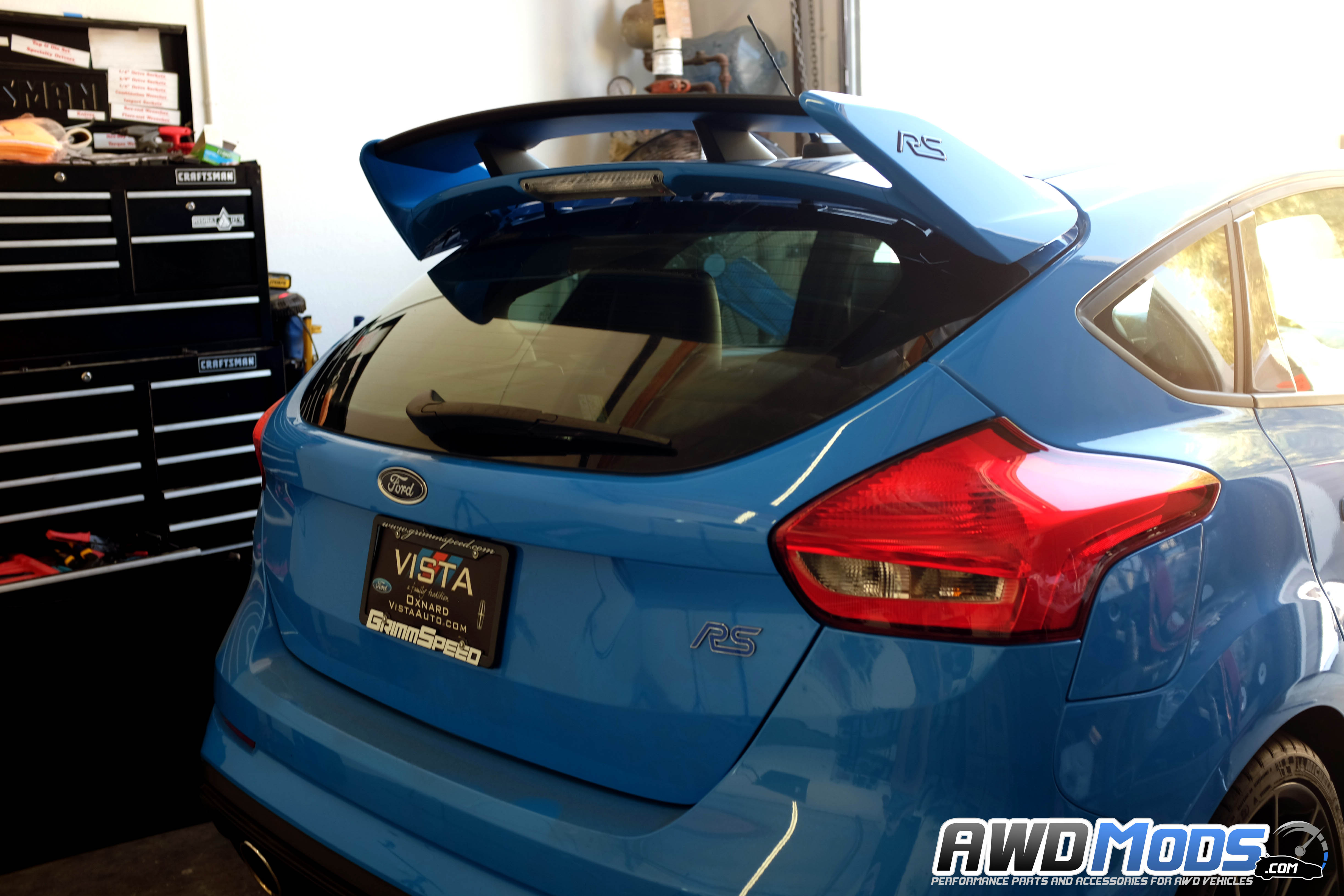 ... Agency Power Rear Spoiler Riser for the Ford Focus RS / ST ...