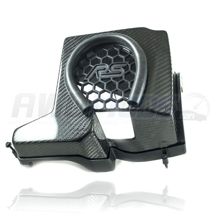 cal pony cars carbon fiber air intake box cover for the ford focus rs