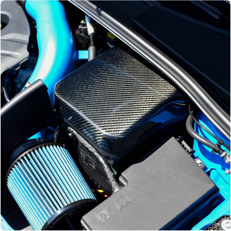 ford focus rs st carbon fiber battery cover by cal pony cars. Black Bedroom Furniture Sets. Home Design Ideas