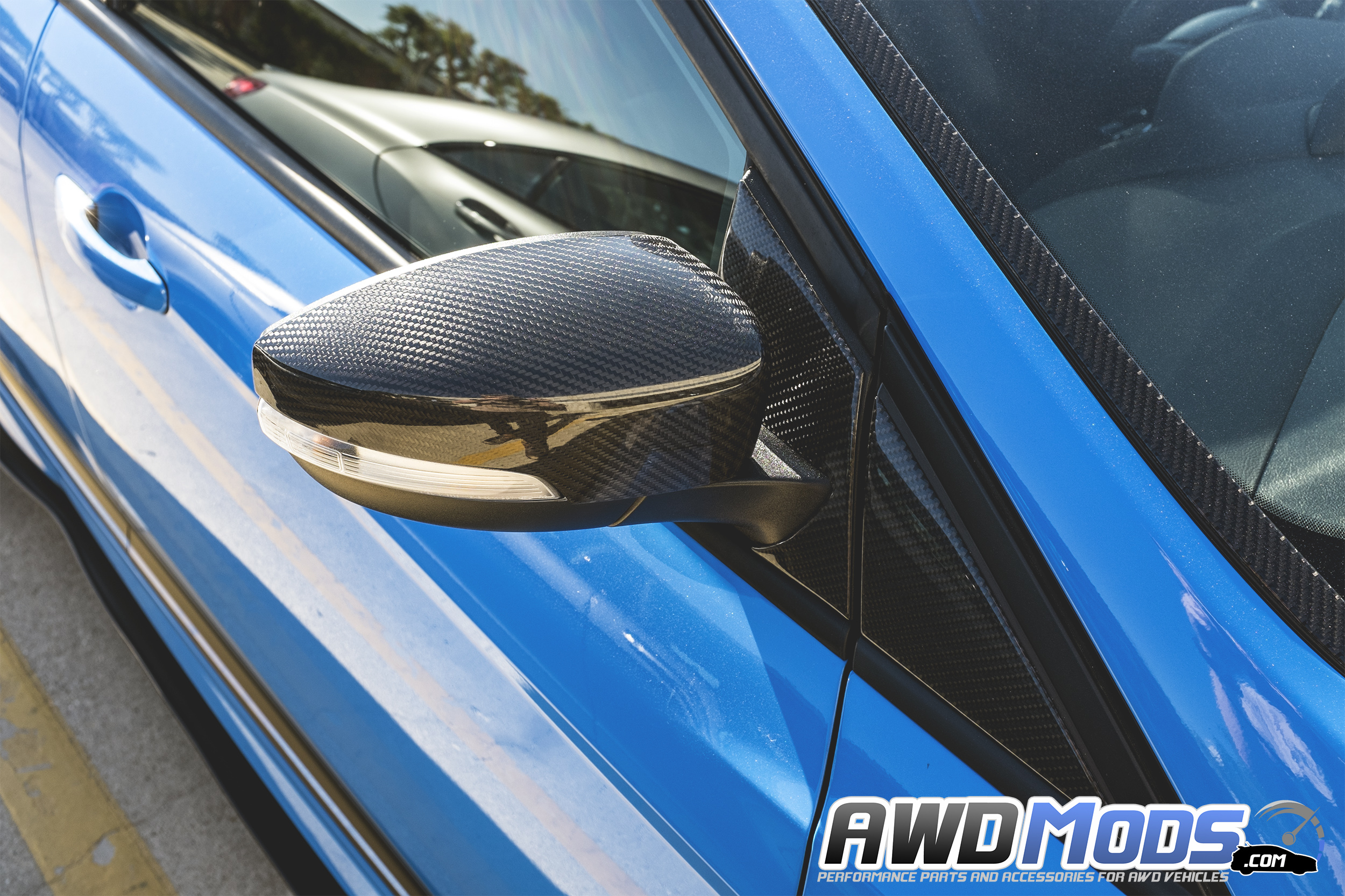 Ford Focus Rs St Carbon Fiber Side View Mirror Covers By