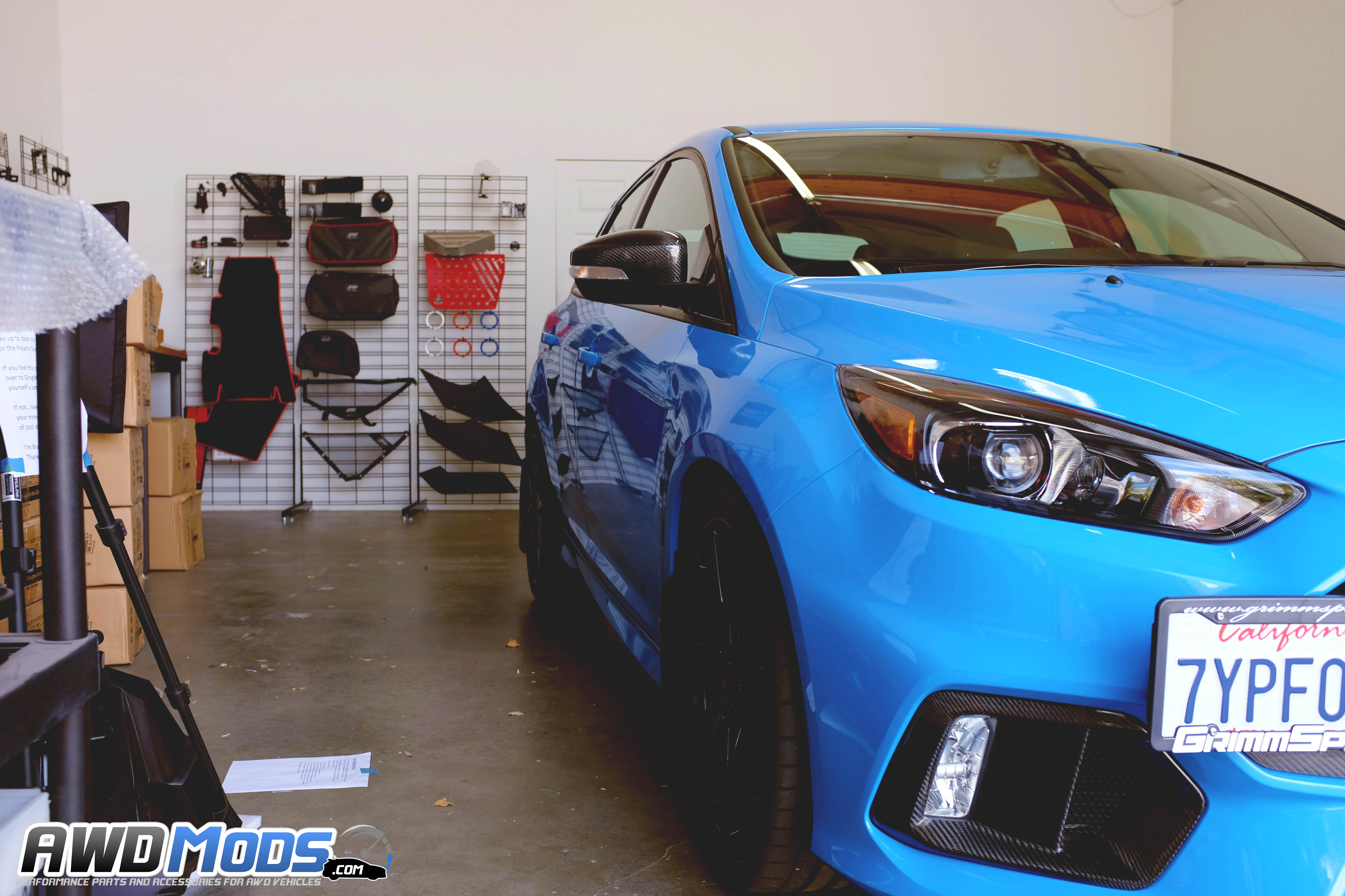 Cal Pony Cars Carbon Fiber Side View Mirror Covers For The Ford Focus Rs St