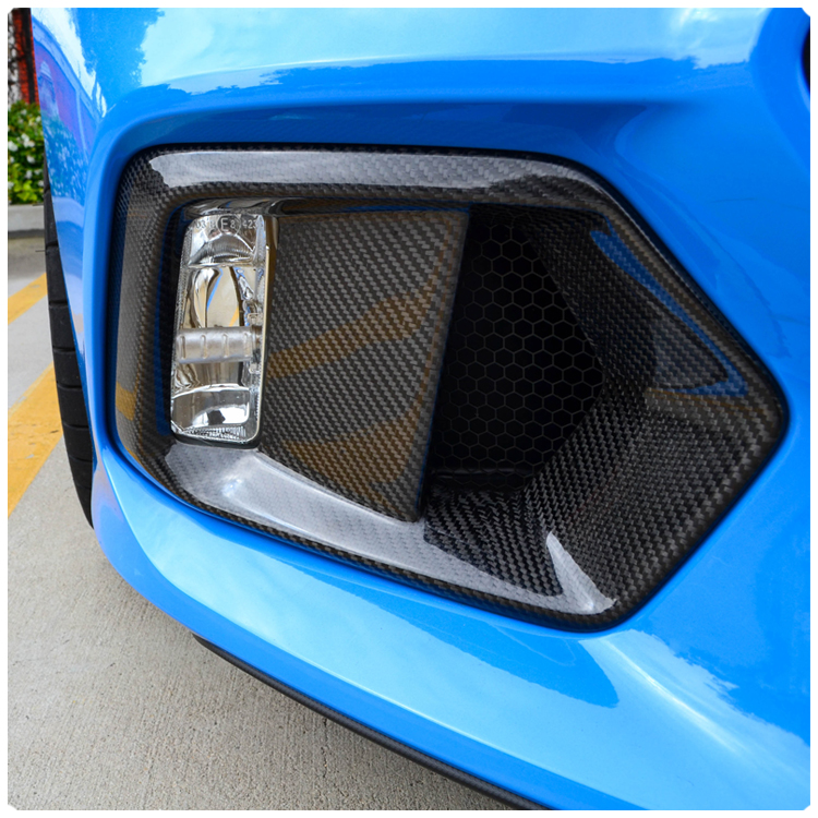 Cal Pony Cars Carbon Fiber Fog Light Bezel Replacement Panels For The Ford Focus Rs Set Of 2