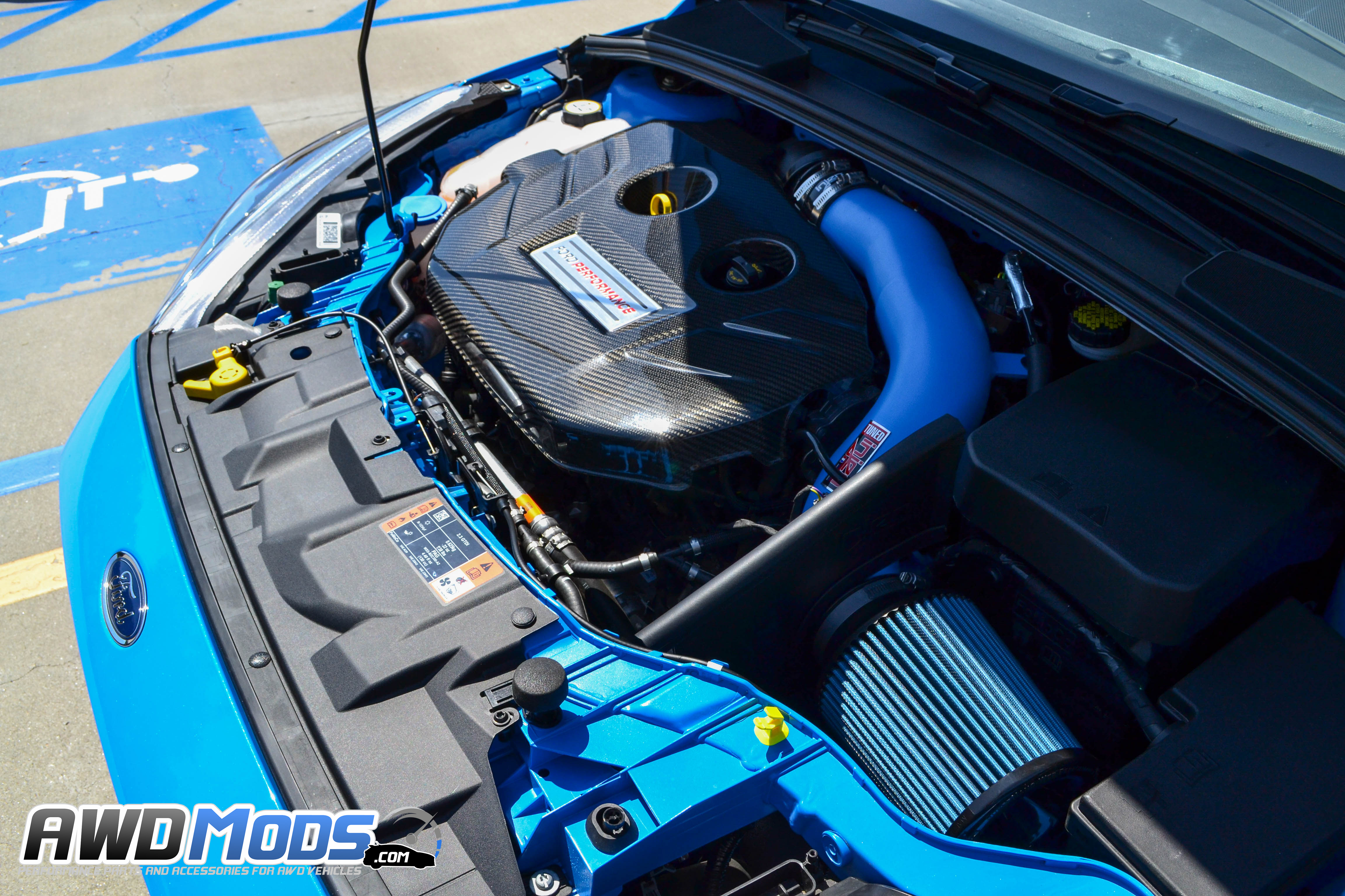 Ford Focus Rs Carbon Fiber Engine Plenum Cover By Cal Pony Cars Sti Fuse Box For The St