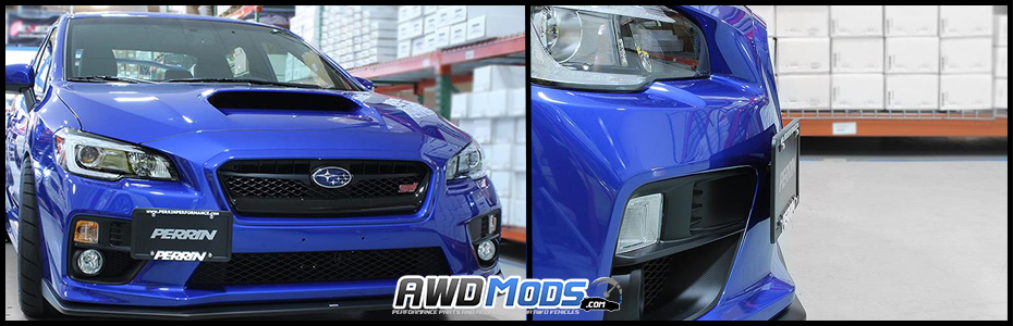 Subaru WRX / STI Front License Plate Relocation Kit made by Perrin ...