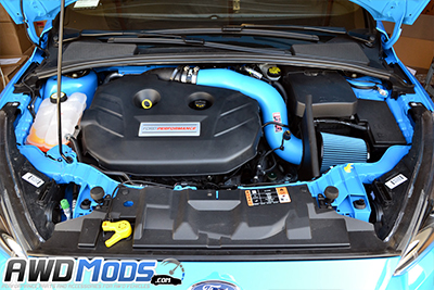 (this image has the injen cold air intake installed with the matching pipe  color)