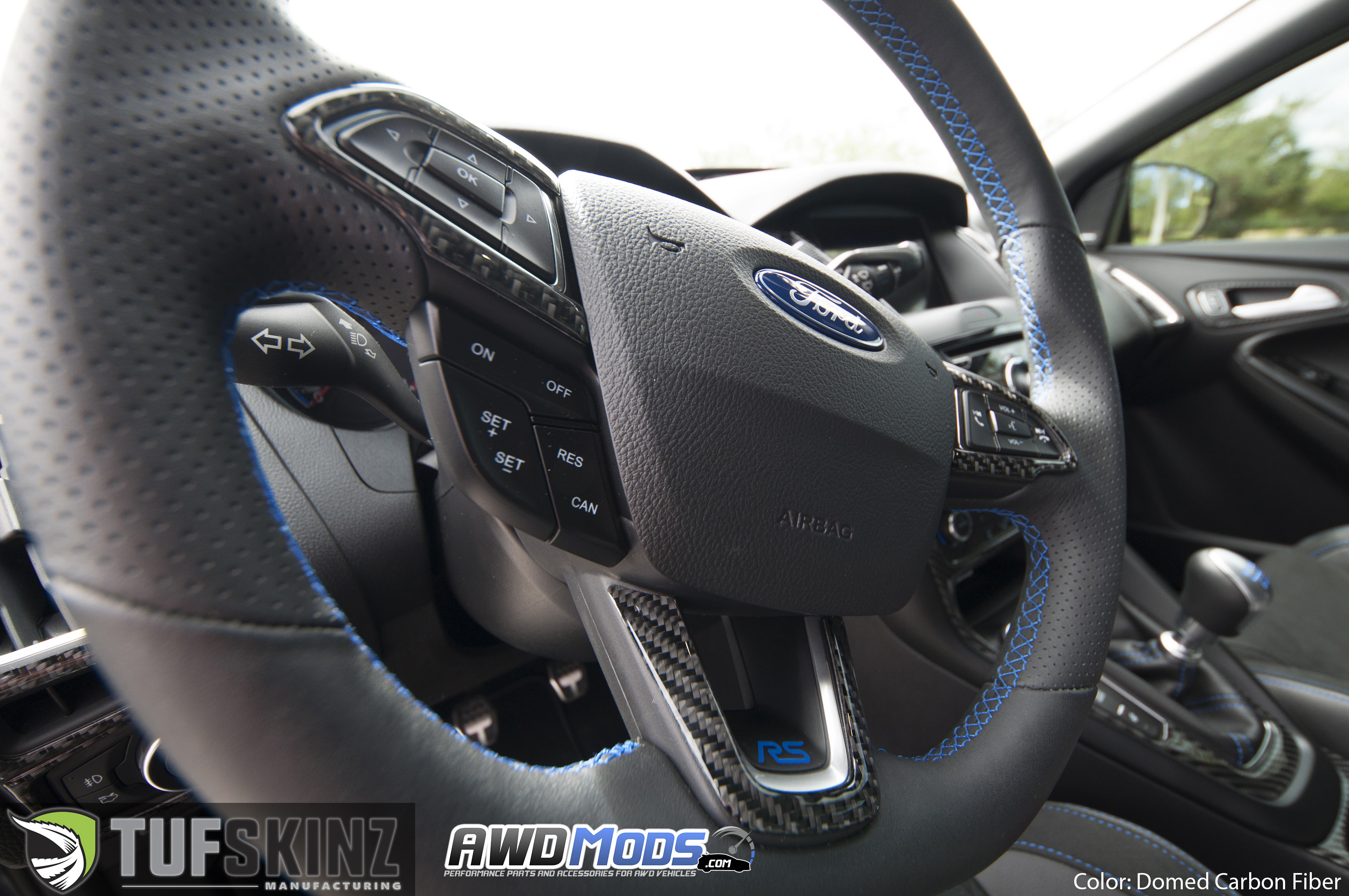 Ford Focus RS / ST Carbon Fiber Accent Kit by Tufskinz (10 piece kit)