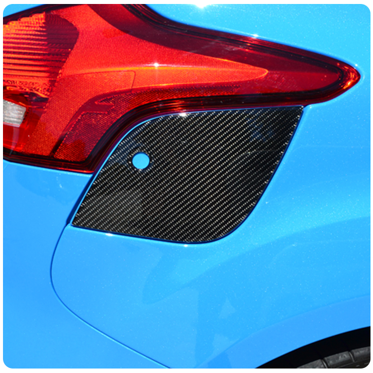 ford focus rs st carbon fiber fuel door cover from tufskinz. Black Bedroom Furniture Sets. Home Design Ideas