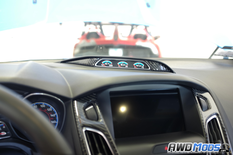 Tufskinz L Stick Carbon Fiber Gauge Cer Accent Kit For The Ford Focus Rs