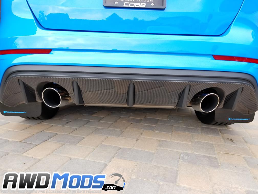 Tufskinz Peel & Stick Carbon Fiber Rear Diffuser Kit for the Ford Focus RS
