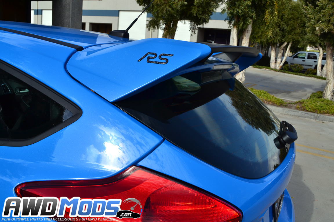 tufskinz peel stick rear spoiler inserts for the ford focus rs set of