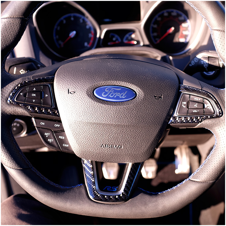 Ford Focus RS / ST Carbon Fiber Steering Wheel Accent Kit